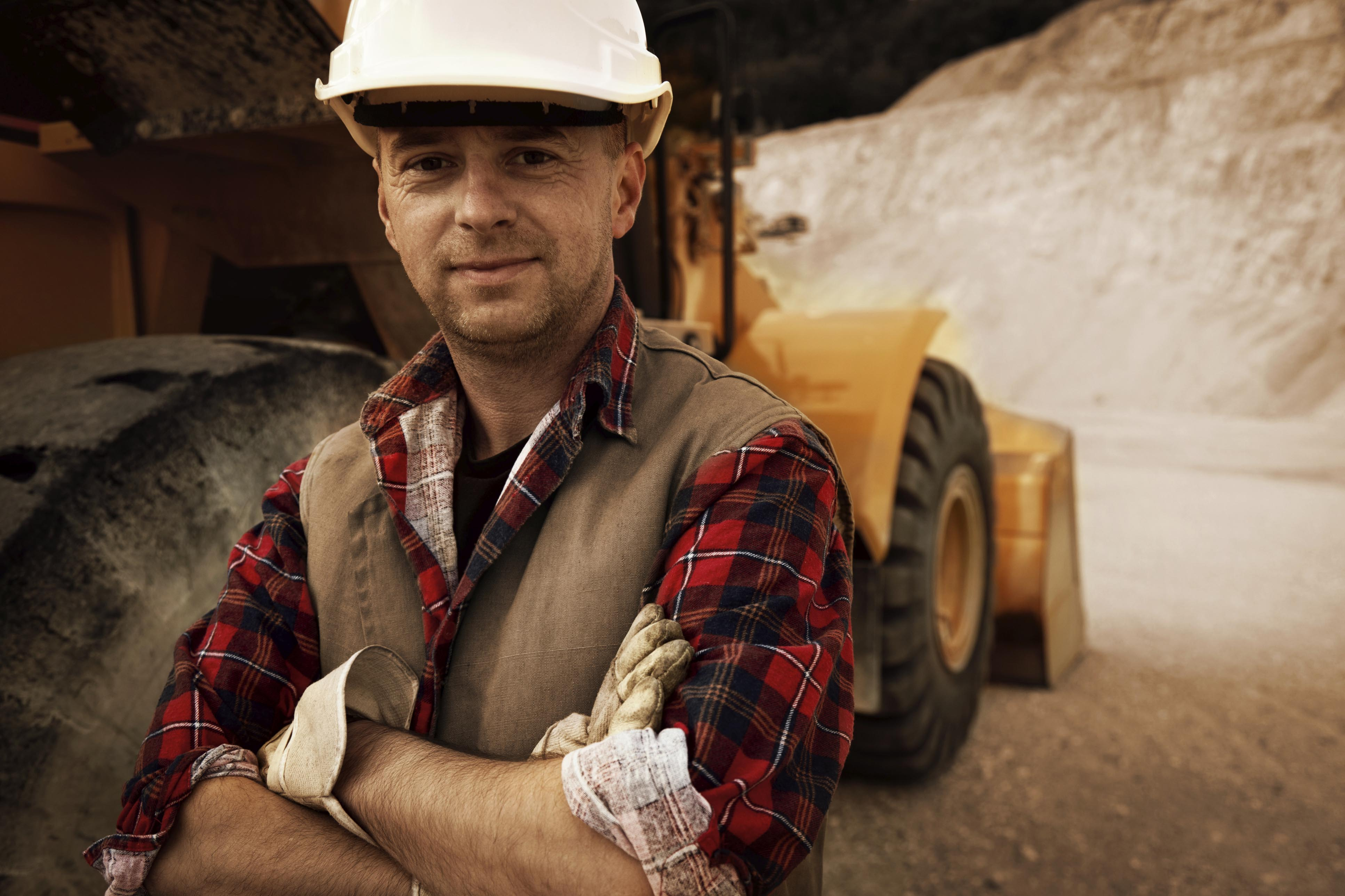 A man in a potash mine considering training for the mining industry.